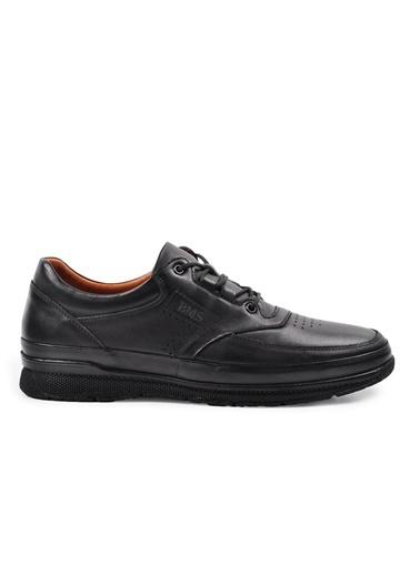 Ayakmod 706 Siyah Hakiki Deri Erkek Günlük Ayakkabı Siyah